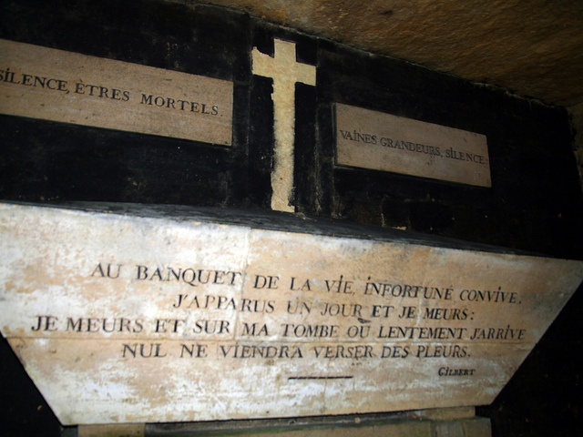 Inscription catacombes de paris